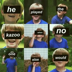 I saw buy a kazoo and play it in band class