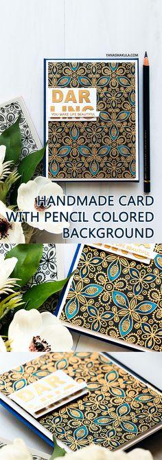Simon Says Stamp | You Make Life Beautiful Pencil Colored Card by Yana Smakula
