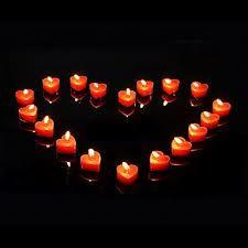 bougies coeur