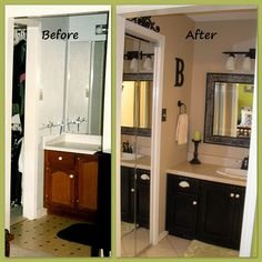 bathroom renovation before after by bijou by the bay via flickr