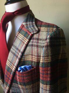 Rarest POLO RALPH LAUREN Collector Vintage 40 Hacking Jacket Tweed Harris RRL | eBay