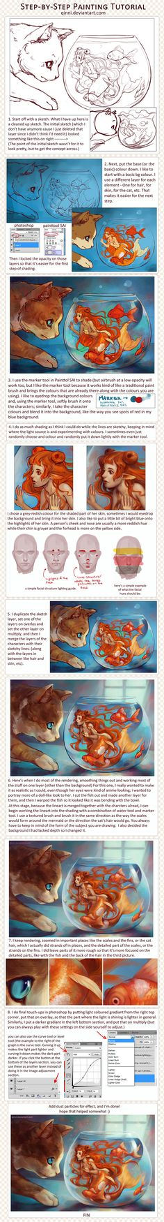 Step-by-Step Digital Painting Tutorial by Qinni.deviantart.com on @deviantART
