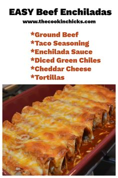 Using a few shortbuts, these Easy Enchiladas come together in no time but surely don't skimp on flavor!!