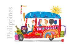 Philippine Jeepney Art Print by Robert Alejandro