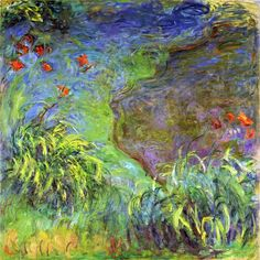 lonequixote: Daylilies by the Water ~ Claude Monet