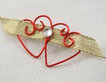 This Wired Heart Pin is a great Valentine's day project to wear in celebration or give as a gift.