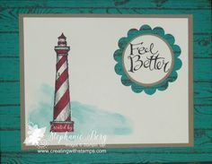 Stampin' Up! From Land to Sea and Hardwood stamp sets.