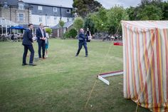 Adding a coconut shy to your wedding or event can really make the party go with a swing.  Young and old, everyone loves a coconut shy, and can get very competitive!! Great for fete, fairground, festival or circus weddings or events.  Hire from Box and Cox Vintage Hire