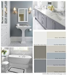 Choosing Bathroom Wall and Cabinet Colors {Paint It Monday} The Creativity Exchange by emily