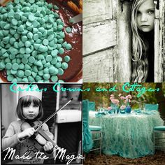 castles, crowns & cottages  -Turquoise