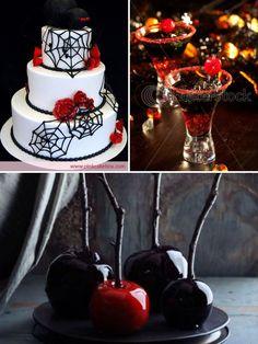 Glamorous Halloween Wedding Inspiration | Calligraphy by Jennifer
