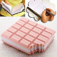 ice cream sandwich notepad! I wish instead of pink it would be brown like a real ice cream sandwich.