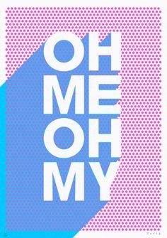 Fluorescent pink & blue by James Joyce