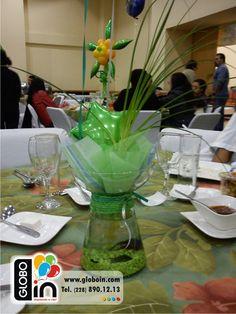 Centro de mesa con pecera
