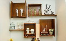 Além das caixas de feira, outra possibilidade decorativa é colocar gavetas na parede. Os módulos improvisados se transformam em verdadeiros nichos. Foto: Divulgação