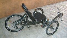Steve's Recumbents - Ed Poste's Carbon Fiber Recumbent Trike Home made