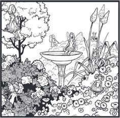 """It's Feature Friday! """"Flower Fairies"""" - Every good garden needs them. From our 100th issue!"""