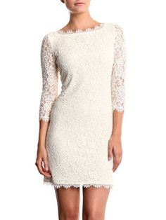 Diane Von Furstenberg lace Zarita dress. Wedding reception dress idea.