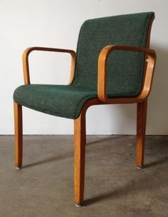 Vintage Knoll Bill Stephens Bent Wood Arm Chair C.1973 McM (8 Available)