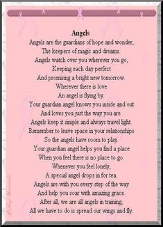 Angels Are The Guardians Of Hope And Wonder, The Keepers Of Magic And Dreams. Angels Watch Over You Wherever You Go… ^i^ •♡• ^i^