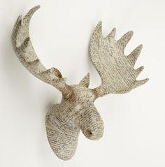 Belle Maison Paper Manuscript Antler Moose Head 38cm