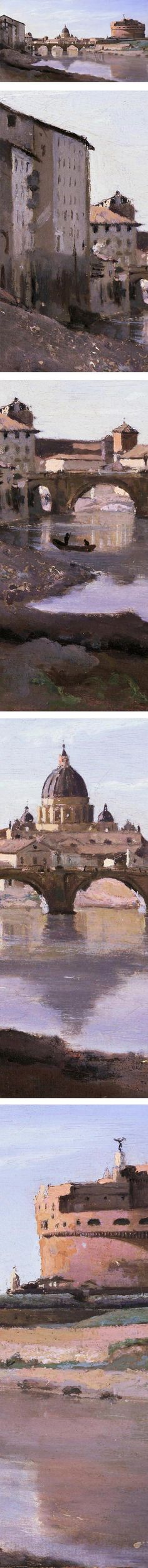 Eye Candy for Today: Corot painting of Castel Sant'Angelo