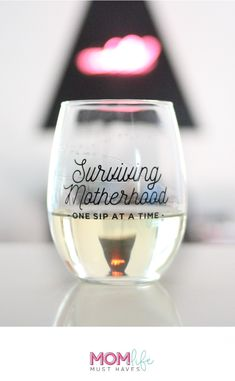 PIN IT TO WIN IT! Follow @ginaekirk and save this pin to one of your boards to be entered to win. Contest ends 5/22. // Surviving Motherhood one sip at a time® 21oz. wine glass from Mom Life Must Haves