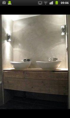 Badkamer, mooie verlichting