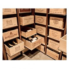 Modulorack - Wine Cellar storage system for your wine cases Under Stairs Wine Cellar, Wine Cellar Basement, Tonneau Bar, Caves, Wine Furniture, Do It Yourself Organization, Home Wine Cellars, Wine Cellar Design, Sliding Shelves