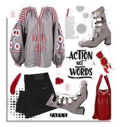 """""""Zaful.com: Action no words"""" by hamaly ❤ liked on Polyvore featuring Komar, Nudie Jeans Co., TheBalm, Essie, women's clothing, women, female, woman, misses and juniors"""