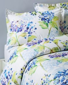 125 watercolor floral duvet cover and sham