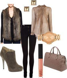 Faux Fur vest - wear it to work!