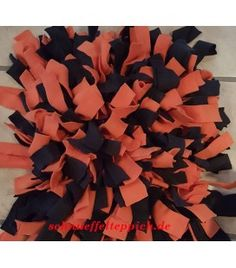 Schnüffelteppich orange/schwarz