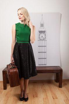 Lodenkleid grün von Bergluft auf DaWanda.com Midi Skirt, Chic, Skirts, Style, Fashion, Dirndl, Dresses For Women, Elegant, Moda