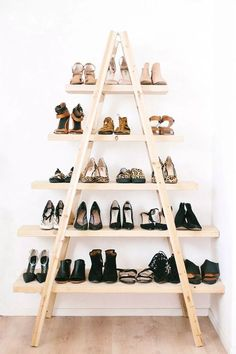 Dream big with these envy-inducing shoe closets that are sure to inspire a beautifully organized closet! via Style Me Pretty
