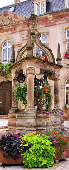 """audreylovesparis: """" Rosheim in Alsace, France """" Stunning Garden"""
