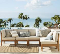 Build Your Own - Hampstead Sectional Components - Honey   Pottery Barn
