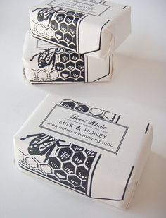 Milk & Honey Shea Butter Soap.   Love this company's packaging!