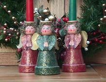Clay pot angels