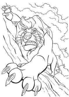 Mufasa Holding Tight On The Rock In The Lion King Coloring Page : Color Luna Lion Coloring Pages, Cartoon Coloring Pages, Coloring Books, Drawing Poses, Drawing Sketches, Drawings, Online Coloring, Activity Sheets, Disney Cartoons