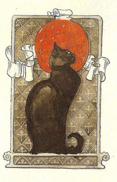 By Steinlen, Chat on Flickr.
