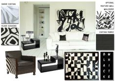 art deco bedrooms black , ivory | To create the Black and White room; pictured above the following items ...