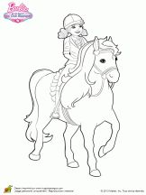 Chelsea A Cheval Horses Barbie Coloring Barbie Coloring Pages