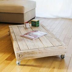 Table basse industrielle palette meubles en palette for Meuble palette montreal