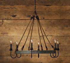 Chandeliers, Wrought Iron & Bronze Chandeliers | Pottery Barn