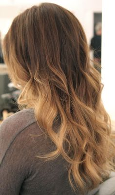 light brown ombre