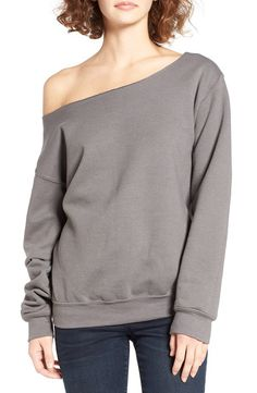 Ten Sixty Sherman Ten Sixty Sherman Off the Shoulder Sweatshirt available at #Nordstrom