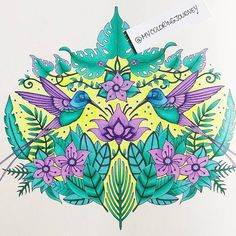 Colored by MyColoringJourney. From Johanna Basford's Magical Jungle.