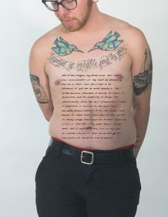 James and his tattoo and story