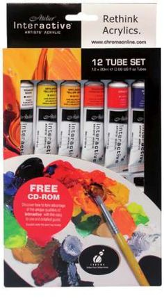 The Atelier Interactive acrylic paint set is a great introductory set for artists or beginners. This set enables you a sample of a range of 12 Atelier Interactive acylics in popular colours. Wholesale Craft Supplies, Craft Supplies Online, Art Supplies, Art Shed, Paint Brush Holders, Oil Painting Supplies, Acrylic Paint Set, My Art Studio, Painted Pots